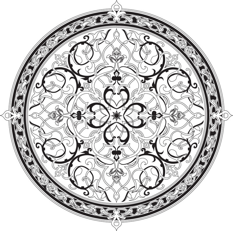 arabisk blom- motivmodell vektor illustrationer