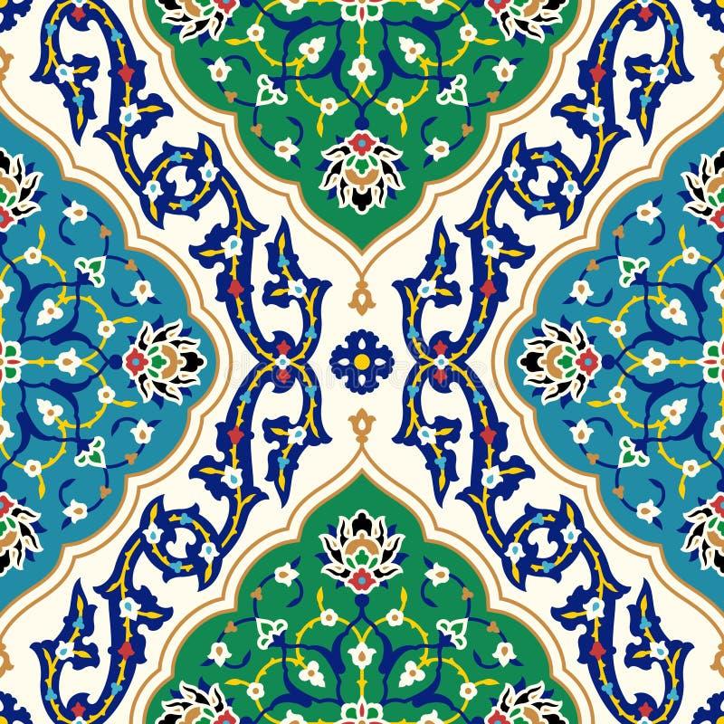 Arabisk blom- sömlös modell vektor illustrationer