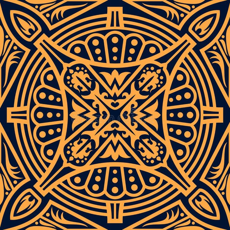 Arabisk blom- sömlös modellbakgrund vektor illustrationer