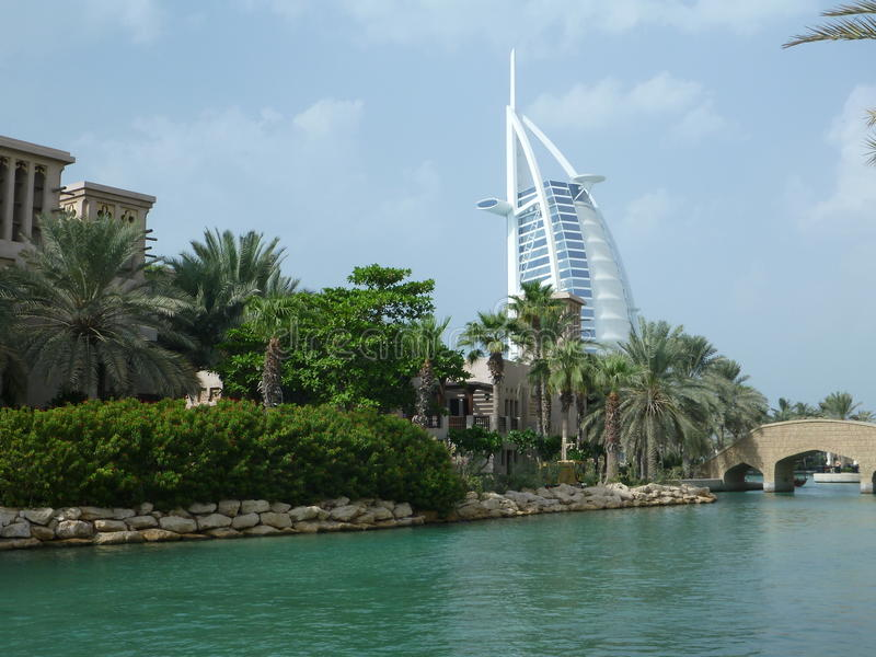 arabisk burj dubai för al royaltyfria foton