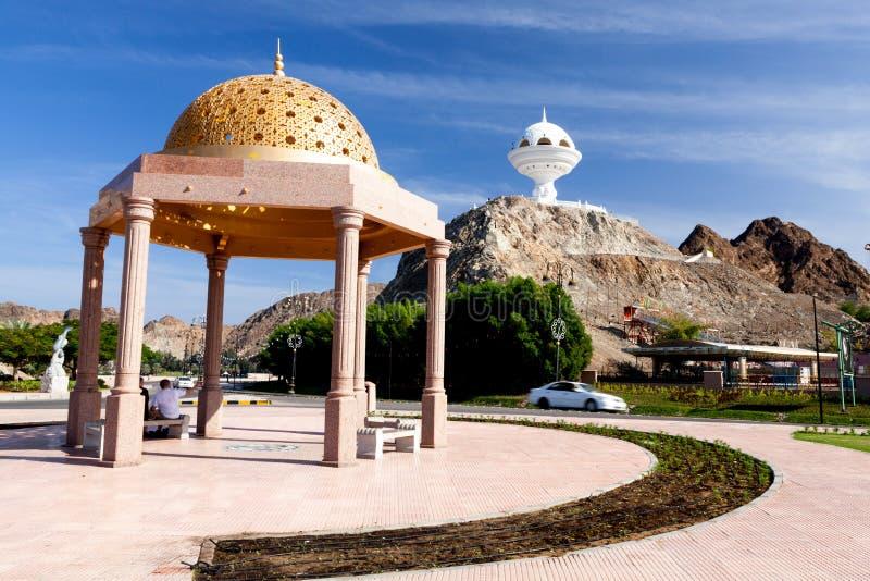 Arabisk byggnad i Muscat, Oman arkivfoton