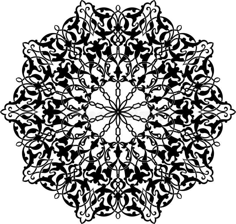 arabisk cirkelprydnad royaltyfri illustrationer