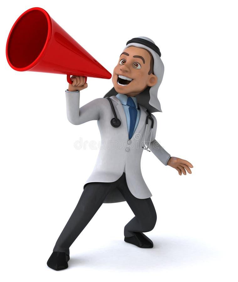 arabisk doktor stock illustrationer