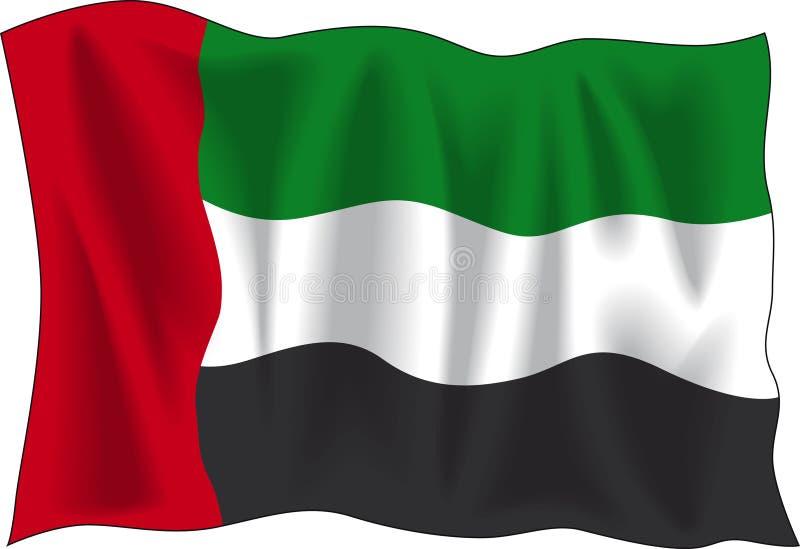 arabisk förenad emiratesflagga royaltyfri illustrationer