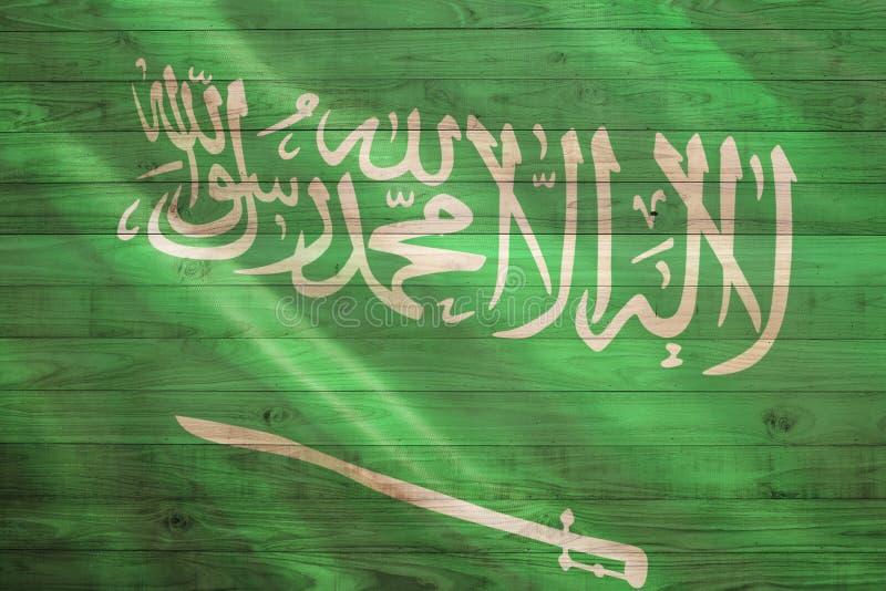 arabisk flaggasaudier royaltyfri illustrationer
