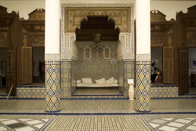arabisk garneringmosaik arkivfoto