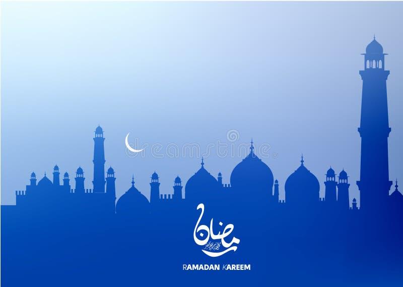Arabisk kalligrafi för Ramadankareem för islamisk hälsa bakgrund vektor illustrationer