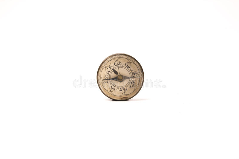 Arabisk kompass för tappning som isoleras på vit bakgrund arkivbilder