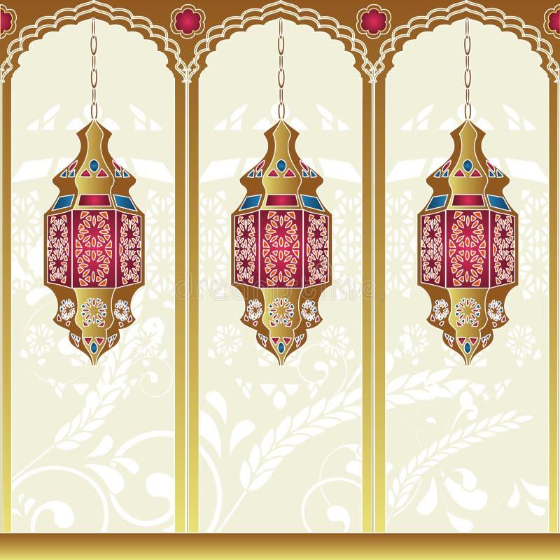 arabisk lampstil royaltyfri illustrationer