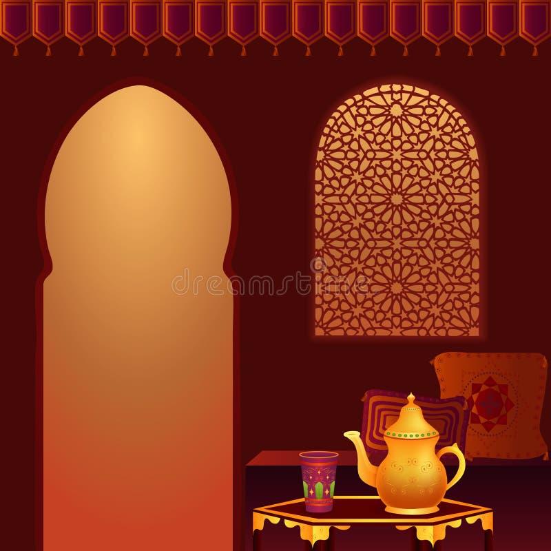 arabisk lokaltea royaltyfri illustrationer