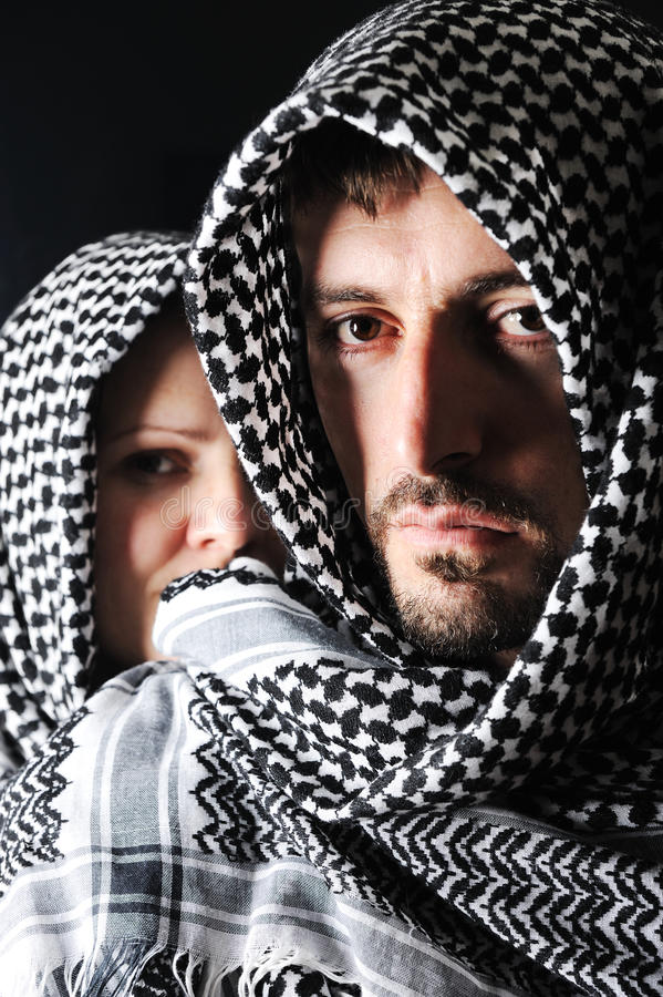 arabisk manpalestinier royaltyfri fotografi
