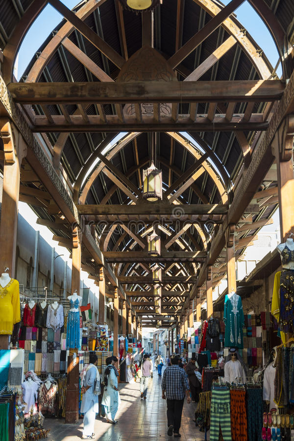 Arabisk marknad för Bur Dubai Souk fotografering för bildbyråer
