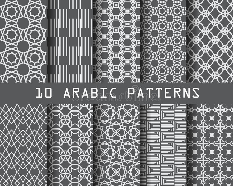 arabisk modell royaltyfri illustrationer