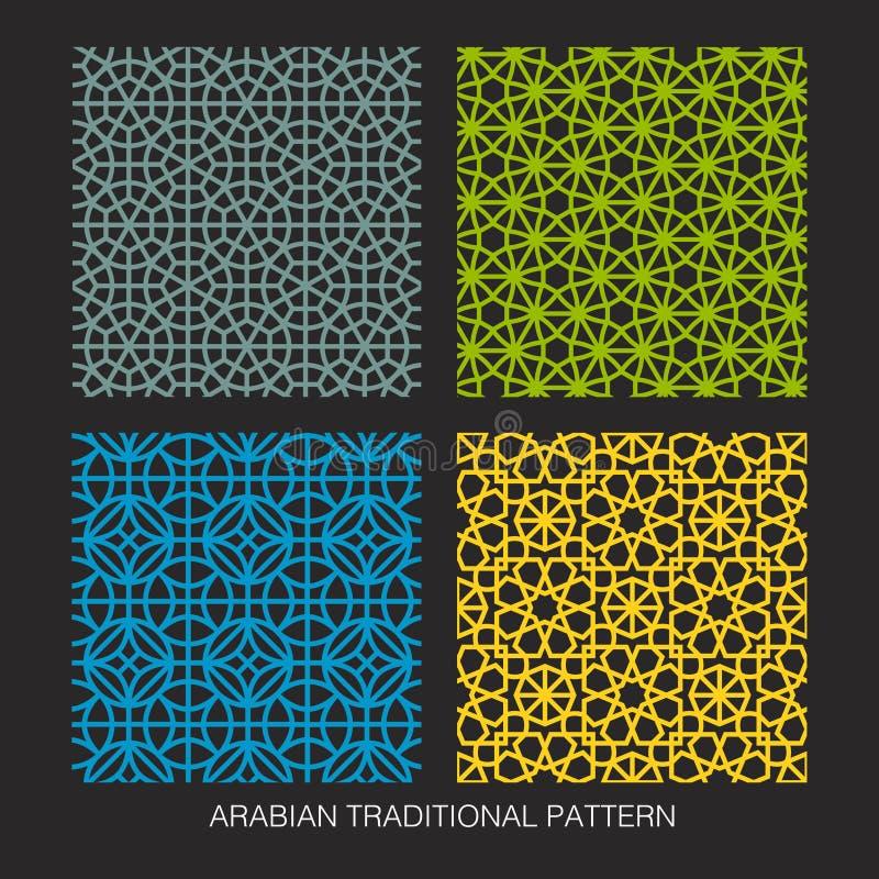 Arabisk modelldesign vektor illustrationer