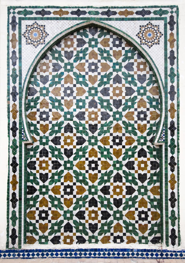 arabisk mosaik arkivfoto