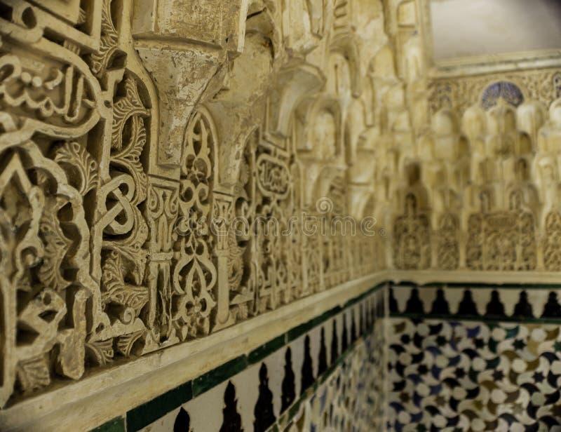 Arabisk mosaik i Granada, Alhambraen arkivbild