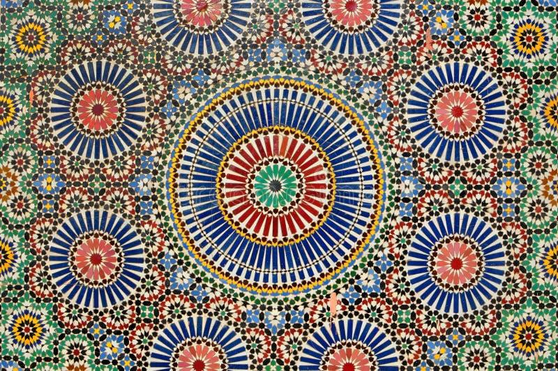 Arabisk mosaik i Marrakech arkivfoto