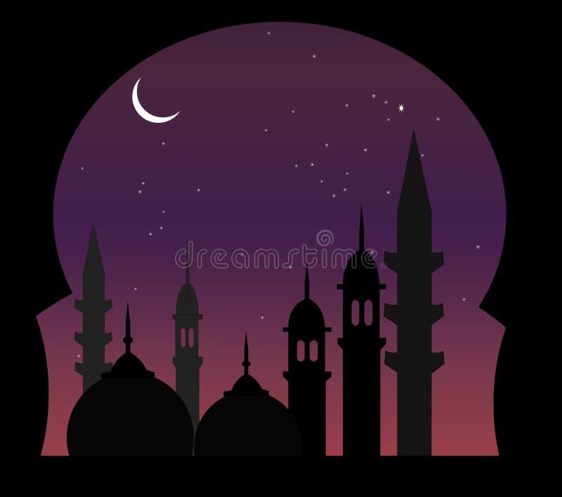 arabisk nattsikt vektor illustrationer