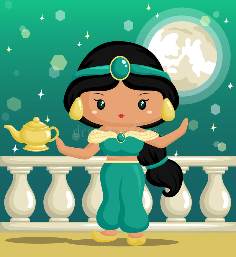 Arabisk prinsessa stock illustrationer