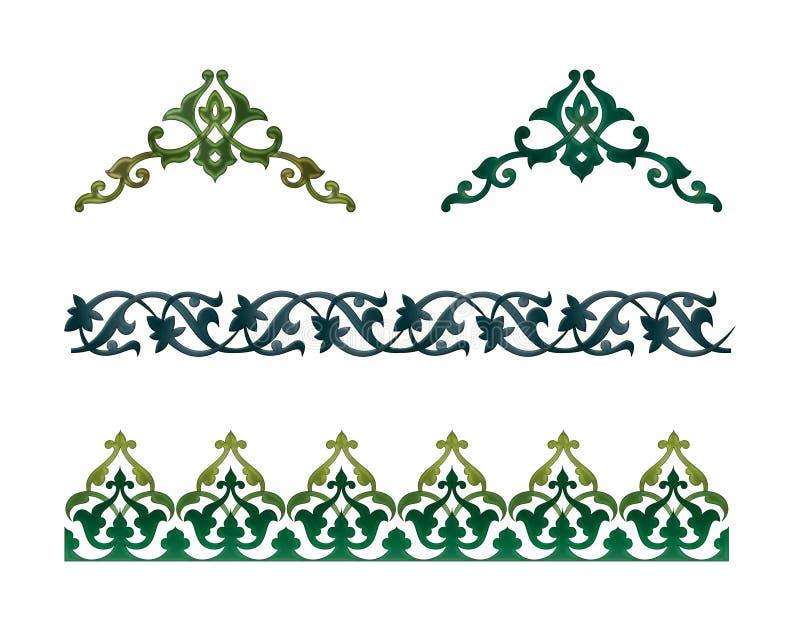 arabisk prydnad royaltyfri illustrationer