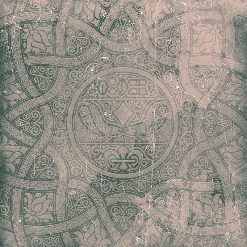 Arabisk prydnadbakgrund för antik tappning stock illustrationer