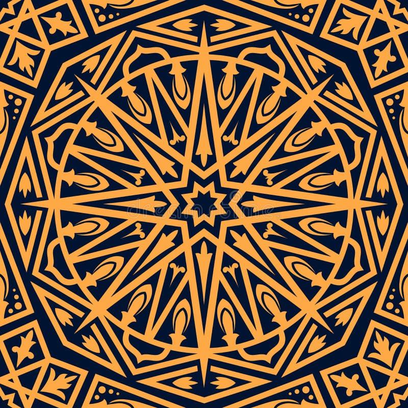 Arabisk sömlös modell, orientalisk prydnad stock illustrationer