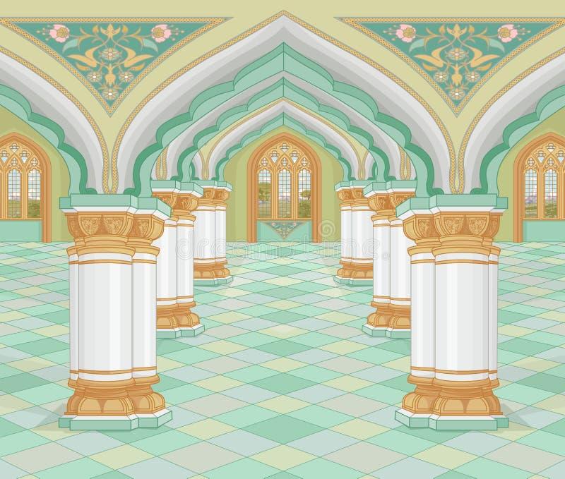 arabisk slott stock illustrationer