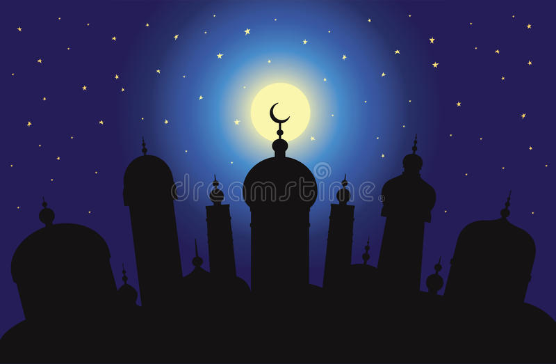 Arabisk stad royaltyfri illustrationer