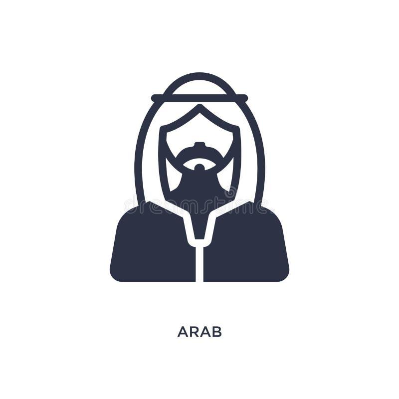arabisk symbol på vit bakgrund Enkel beståndsdelillustration från ökenbegrepp stock illustrationer