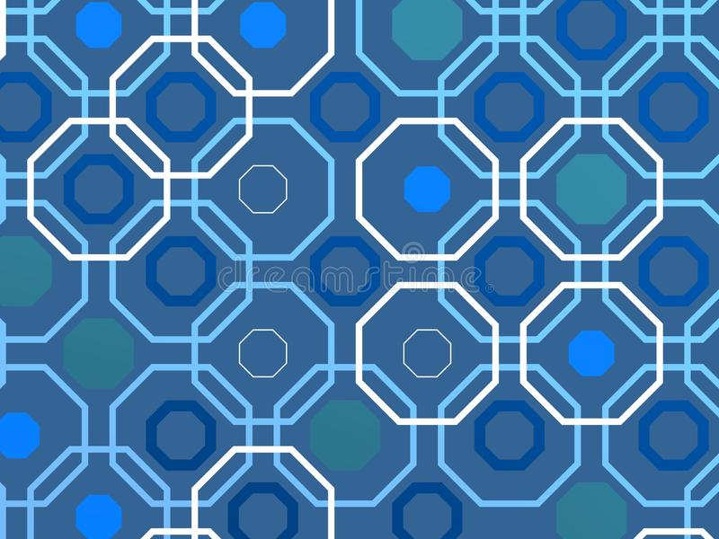 Arabisk techbakgrund över blå bakgrund arkivbild
