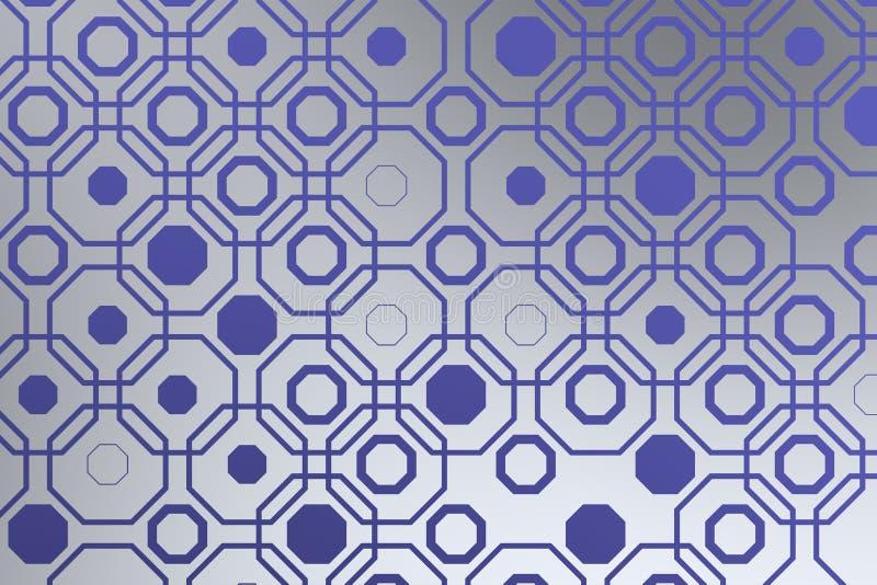 Arabisk techbakgrund med den blåa oktogon arkivfoto