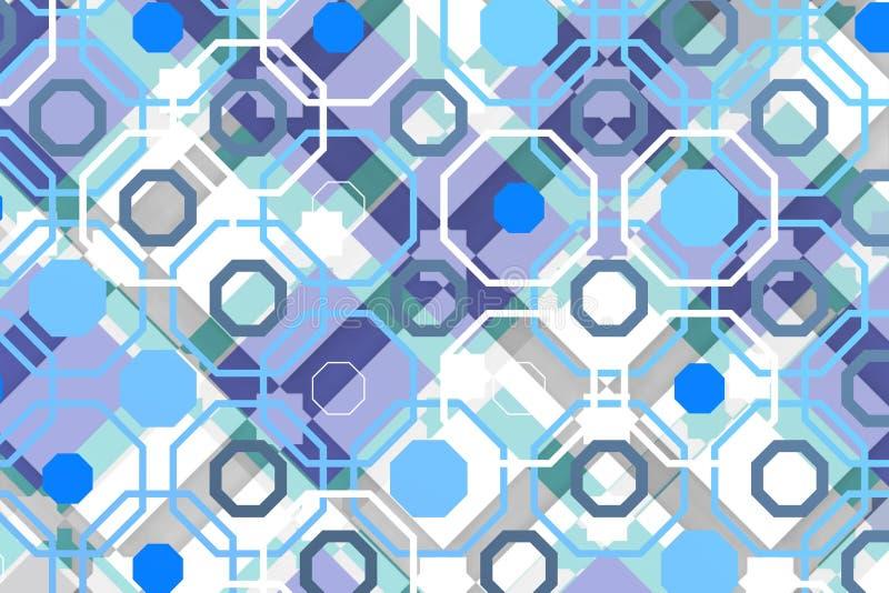 Arabisk techbakgrund med oktogon över panelljus arkivbild