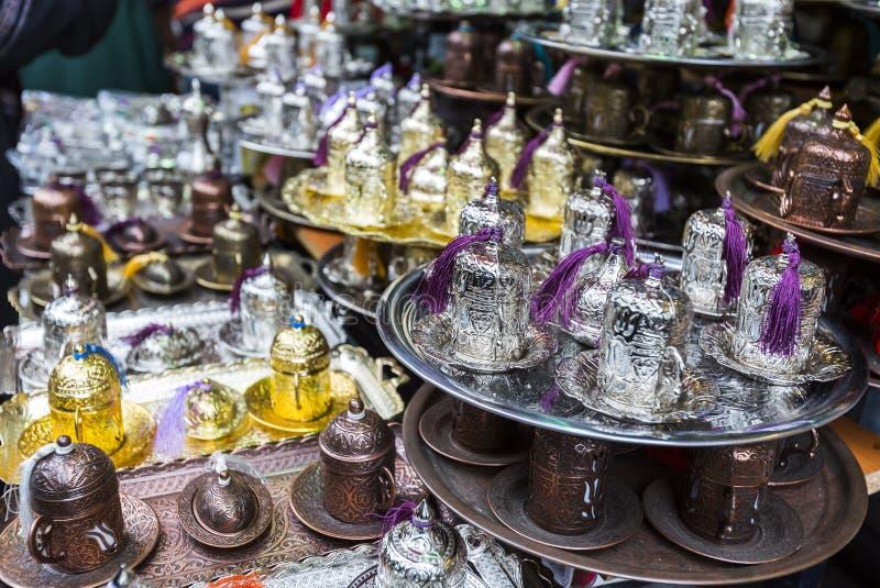 Arabisk tekaffeuppsättning royaltyfri bild