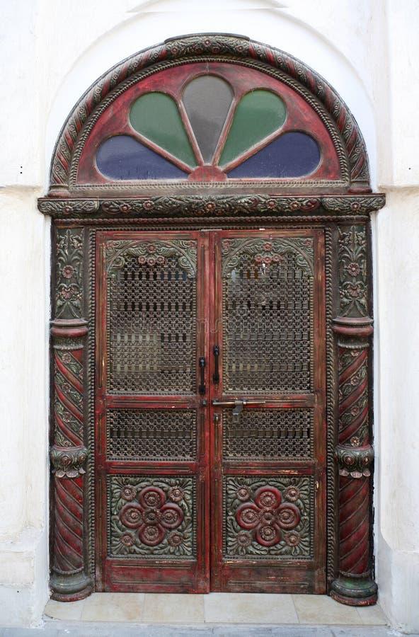 arabisk traditionell dörrstil arkivbild