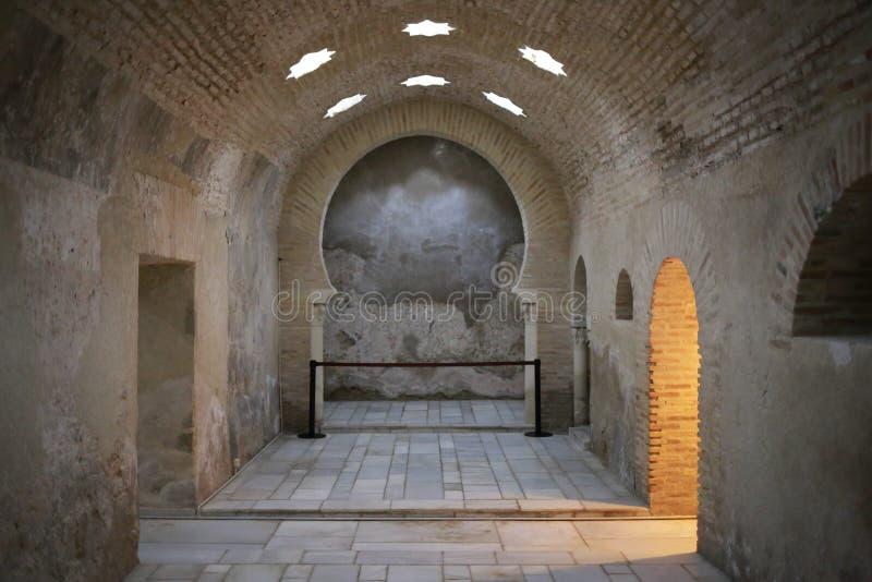 Arabiska bad av Jaen Andalusia Spanien arkivbild