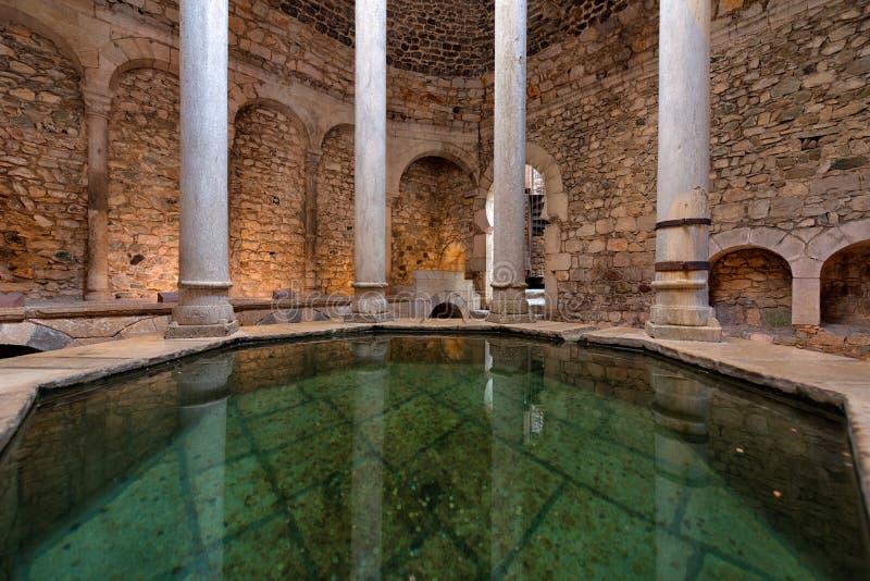 Arabiska bad, Girona, Costa Brava, Catalonia, Spanien royaltyfria foton