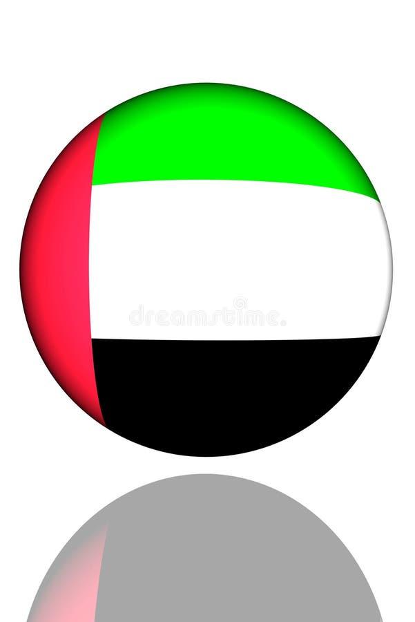 arabiska emirates flag den förenade spheren stock illustrationer