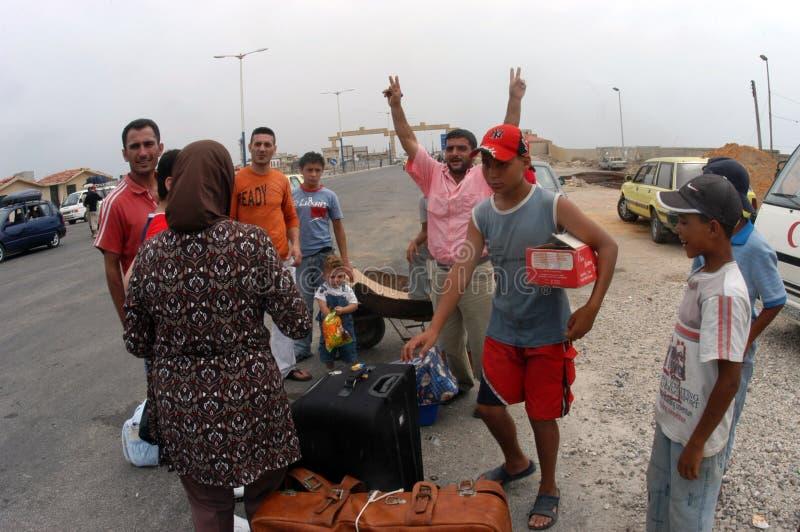 Arabiska flyktingar royaltyfria foton