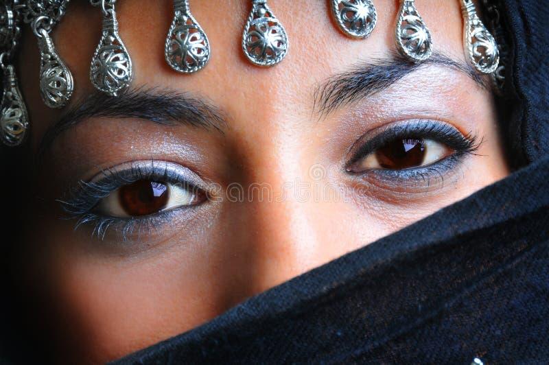 arabiska härliga kvinnor arkivfoton