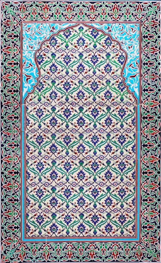 arabiska keramiska tegelplattor royaltyfri bild