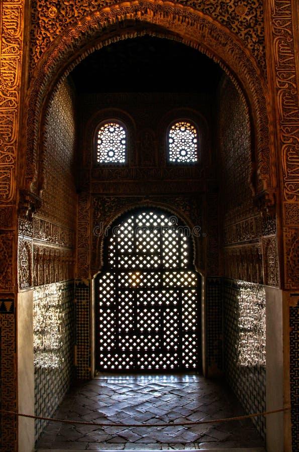 Arabiska motiv i Granada, Andalusia, Spanien royaltyfri foto