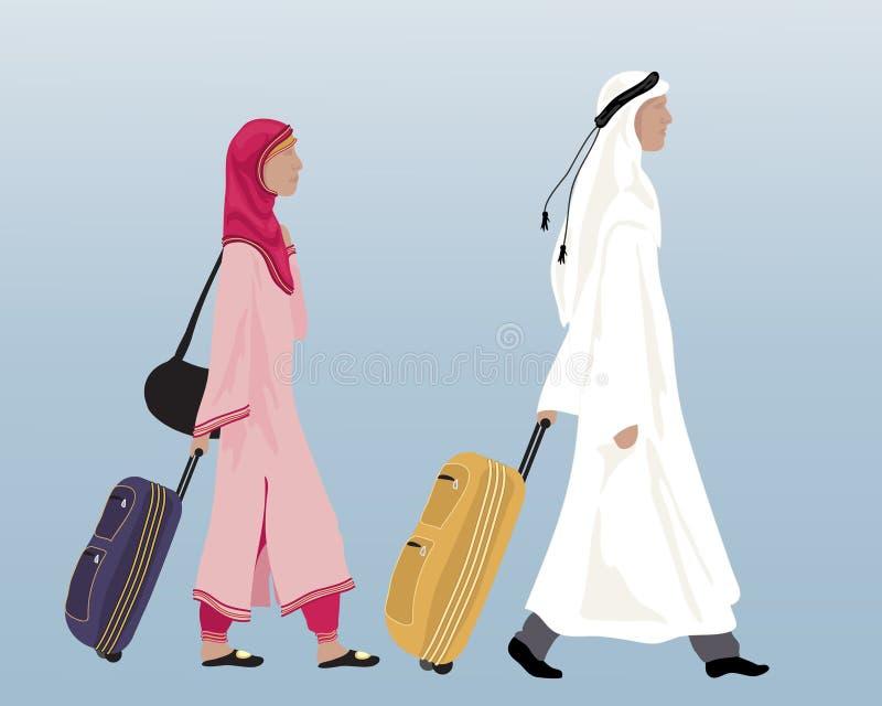 Arabiska par stock illustrationer