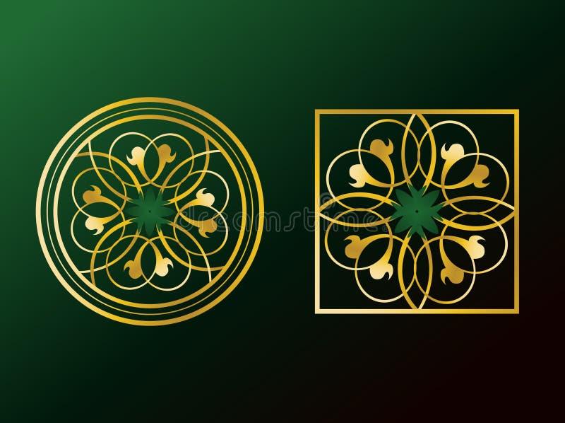 arabiska prydnadar vektor illustrationer