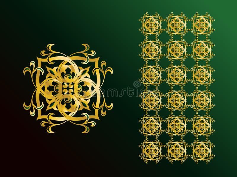 arabiska prydnadar stock illustrationer