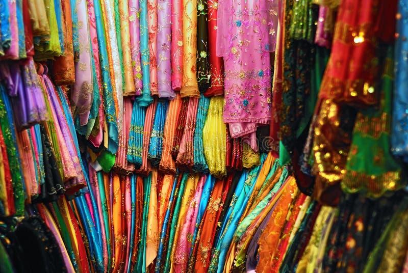 Arabiska tyger och textiler royaltyfri foto