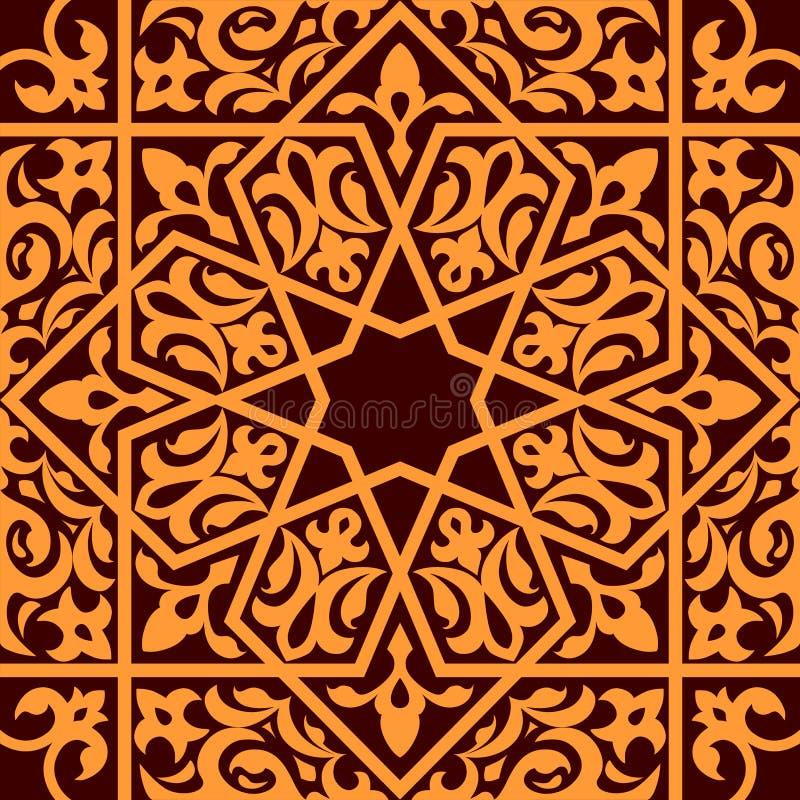 Arabiska och islamiskt seamless stock illustrationer