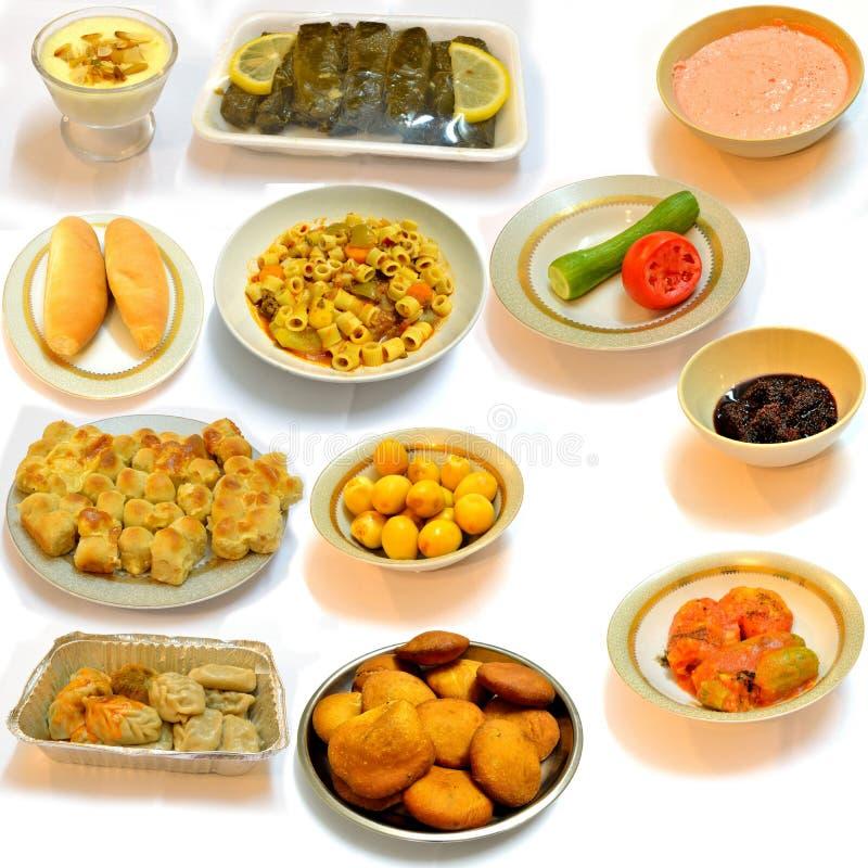 arabiskt äta middag matkök arkivbilder