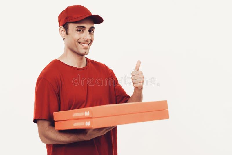 Arabiskt bud med pizza på vit bakgrund arkivfoton