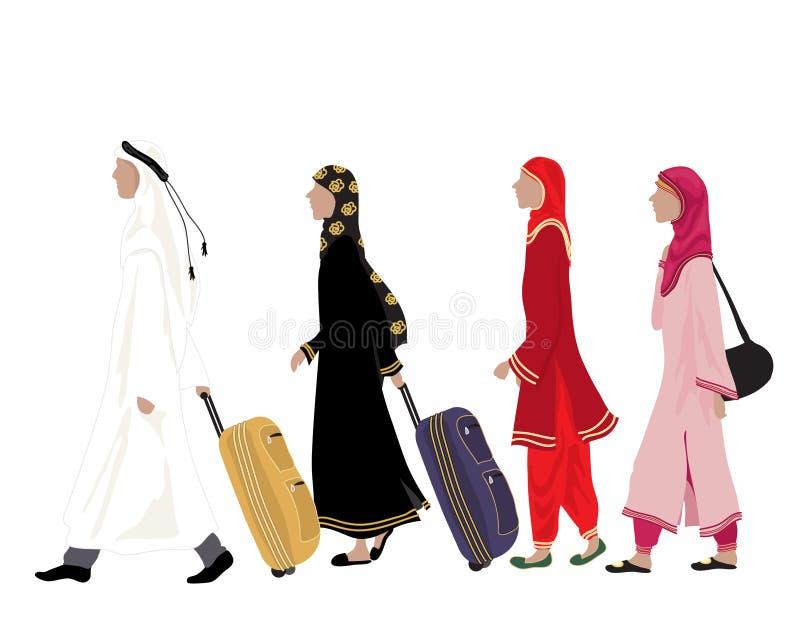 Arabiskt folk royaltyfri illustrationer