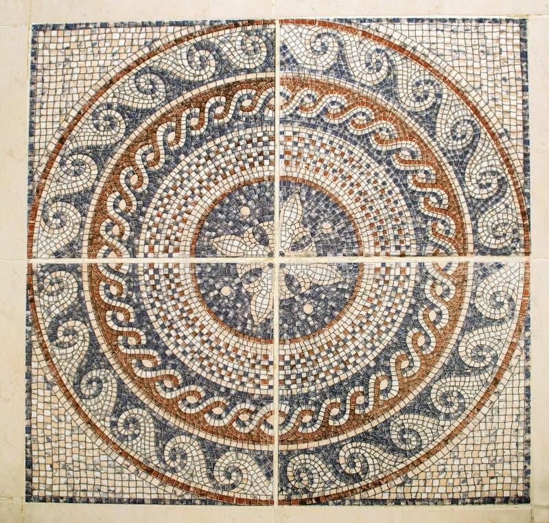 Arabiskt mosaikgolv royaltyfria foton